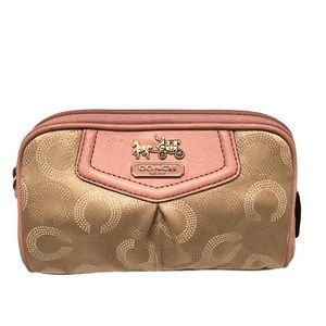 Coach pink optic c cosmetic bag case